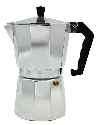 All For You Brew-Fresh Stovetop Espresso Maker Moka Pot (Aluminum) (3 Cup)