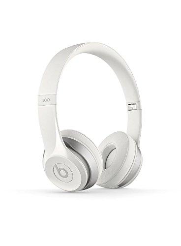 Beats Solo 2 WIRED On-Ear Headphone NOT WIRELESS - White (Renewed)