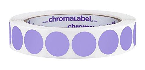 ChromaLabel 3/4 Inch Round Permanent Color-Code Dot Stickers, 1000 per Roll, Lavender