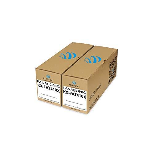 2X KXFAT410X, KX-FAT410X Toner negro regenerado Duston compatible con impresoras Panasonic KXMB1500 1508 1510 1520 1518 1528 1530 1536 1538