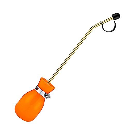 GreeStore - Pulverizador de bombilla para control de plagas, antimosquitos, polvo de diatomeas para hormigas termitas con lanza más larga, color naranja