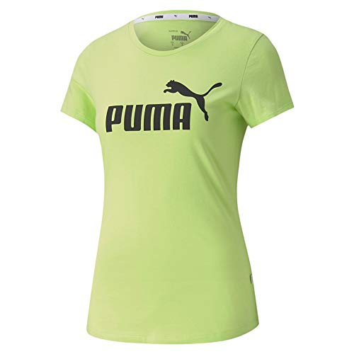 PUMA Damen ESS Logo Tee T-Shirt, Sharp Green, M