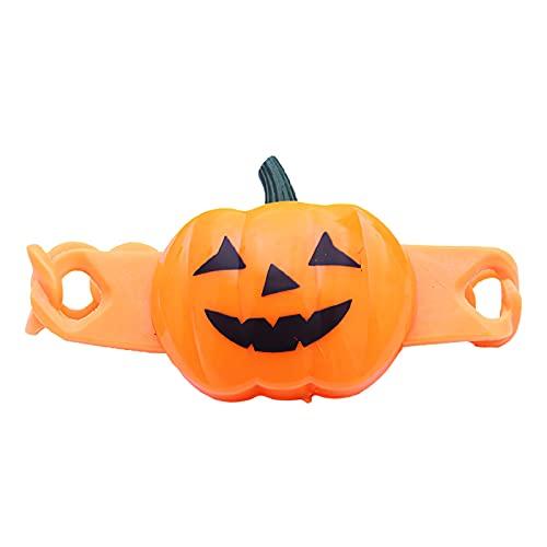 Viitech Pulsera Brillante De Calabaza De Halloween, Pulsera Luminosa De Truco De Halloween, Reloj Naranja Brillante Con Batería De Botón, Pulsera De Calabaza Brillante Para Fiesta De Halloween