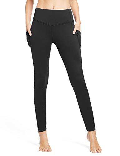 Product Image 6: BALEAF Women's Fleece Lined Leggings Winter Yoga Leggings Thermal High Waisted Pocketed Pants Black M