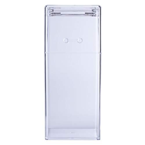 PIXNOR 2 peças de suporte de pincéis de maquiagem de acrílico, caixa quadrada de armazenamento de cosméticos, estojo organizador de ferramentas de maquiagem sem pérola para armazenamento de cosméticos (transparente)