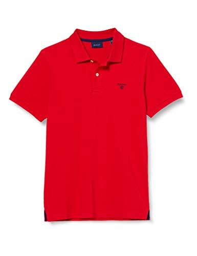 GANT Herren MD. The Summer Pique SS Rugger Poloshirt, Rot (Bright Red 620), XX-Large