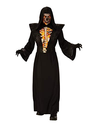 Rubie's Men's Opus Collection Will Be Ghouls Fiery Skeleton Costume, As Shown, XL