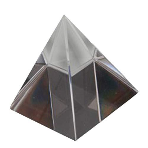 Hemobllo Pirámide de Cristal Prisma óptico para Fotografía Meditación Curación Decoración Escritorio Oficina Casa 40 mm
