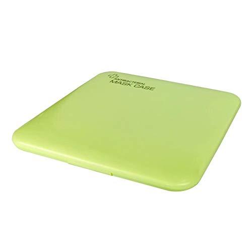 GZ Caja De Almacenamiento De Máscara A Prueba De Polvo A Prueba De Agua Funda De Cara Desechable (Verde)