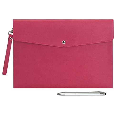 Wonderpool A4 PU cuero sobre documentos multifunción carpetas papelería bolsa - Archivo de cartera para organizador de...
