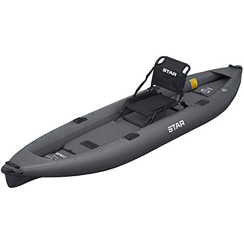 Star Pike Fishing Inflatable Kayak-Dark Gray