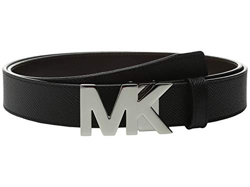Michael Kors Box Jet Set Men's 4 In 1 Signature Leather Gift Set Belt, Black/Brown