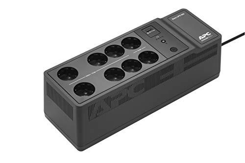 APC Back-UPS Essential BE650G2-FR – Überspannungsschutz-Wechselrichter mit 650 VA Back-UPS (8 Steckdosen, Überspannungsschutz, 1 Schnellladeanschluss Typ A)