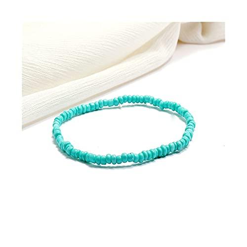 WAZG SYBLD Behemian Color Beads Beklet para niños Joyería Hecha a Mano de joyería de Verano Pulsera descalza (Metal Color : 15)