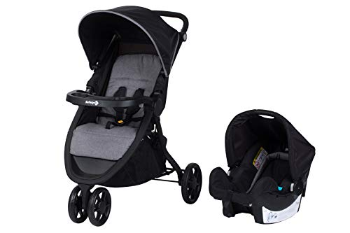 Safety 1st Safety First URBAN TREK 2-in-1 Buggy mit Babytragetasche, Schwarz