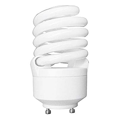Luxrite LR22320 CF23 23-Watt CFL T2 Spiral Bulb, Equivalent To 100W Incandescent, Warm Light 2700K, 1600 Lumens, GU24 Bi-Pin Base