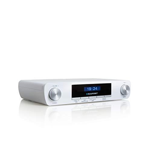 BLAUPUNKT KRD 20 | Unterbauradio Küche mit DAB+ | Digitalradio | DAB Plus Radio | Küchenradio Unterbau | Multidisplay | Unterschrank-Radio UKW PLL | 2 Backtimer | Senderspeicher | LED-Licht | weiß