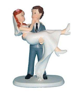 Topper Figuur Cake Bruidegom in Arms - Cijfers van Cake voor Bruiloften Originele Goedkope Taarten