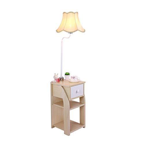 FABAX Staande lamp, Nordic Pastoral, verticale staande lamp, massief hout, opbergen, vitrine, staande lamp, slaapkamer, woonkamer