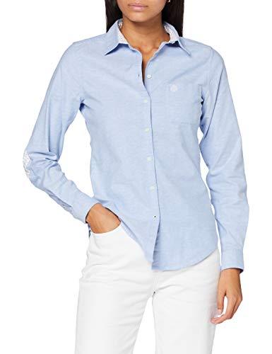 Springfield 3.T.Ap.En.Cami Oxford Org-C/11 Blusa, Azul (Dark_Blue 11), 44 (Tamaño del Fabricante: 34) para Mujer