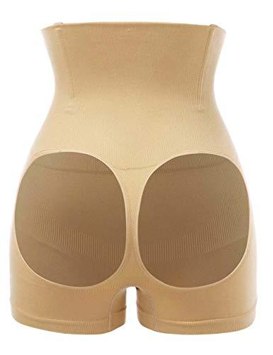 FUVOYA Mujeres a Tope Elevador potenciador de Abdomen Control Shorts Shaper Panty