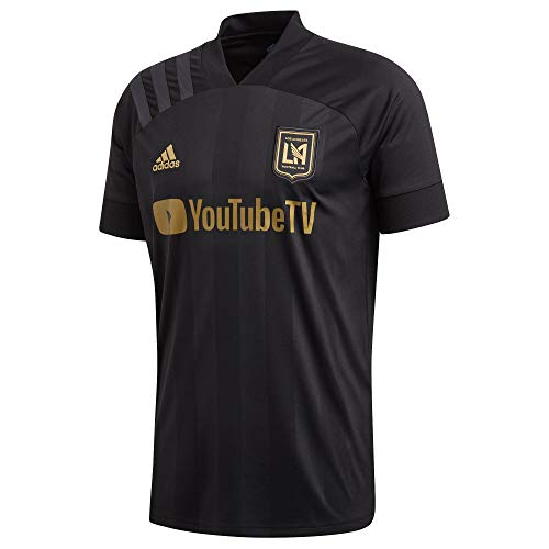 adidas Los Angeles Fc Adult Home Replica Soccer Jersey Black/Gold L