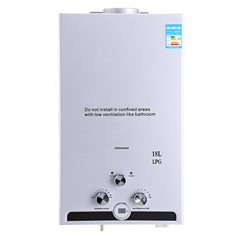 Z ZELUS 18L Scaldabagno A Gas Liquefatto a Parete Riscaldatore a Gas GPL senza Serbatoio Con Digitale LCD 36KW Scaldabagno Automatico e Rapidamente