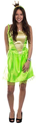Brandsseller Disfraz de prncipe rana para mujer, talla S/M
