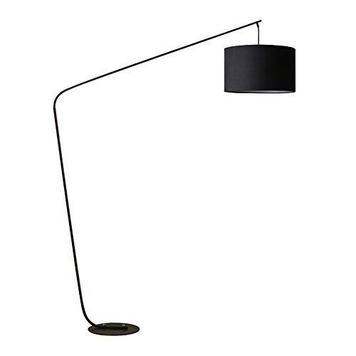 YMGW Lámpara de pie LED Lámpara de Arco de Salón, Lámpara de Pie Moderna con Interruptor de Cable y pie, Bombilla E27 de máximo 10W [Clase de eficiencia energética A+],Negro