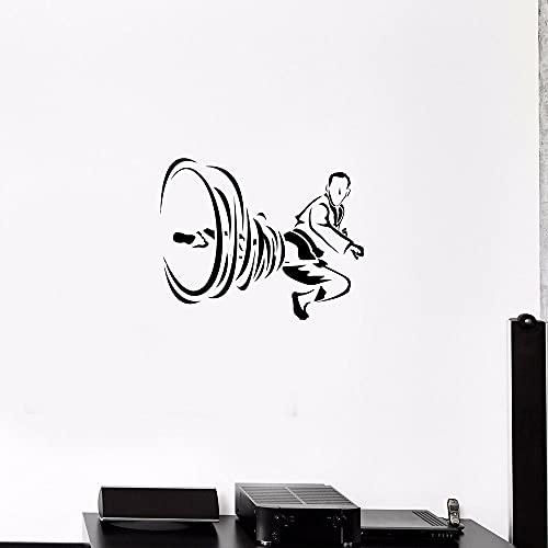 HGFDHG Calcomanías de Pared de Karate Deportes Lucha Artes Marciales Patada Puertas y Ventanas de Estilo japonés Pegatinas de Vinilo Dormitorio Club Gimnasio decoración de Interiores