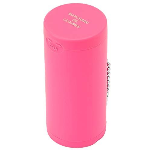 Dreams(ドリームズ) 携帯灰皿 ポケットアッシュトレイ ラバー ハニカム 6本収納 ピンク MDL45097 直径3.5×高さ7.8cm