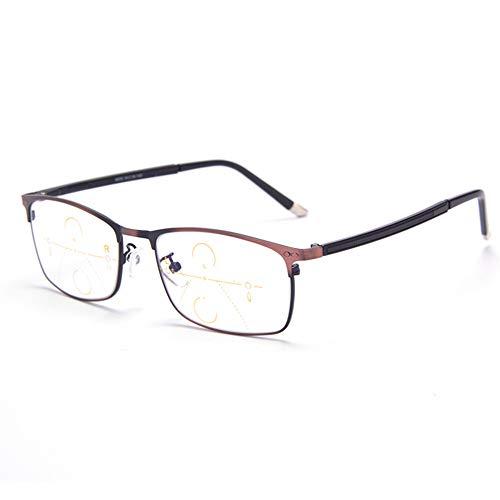 BIAO Lesebrille, Nah Und Fern Dual-Use-Gleitsichtbrille, High-Definition-Flachlichtbrille, Lindert MüDigkeit