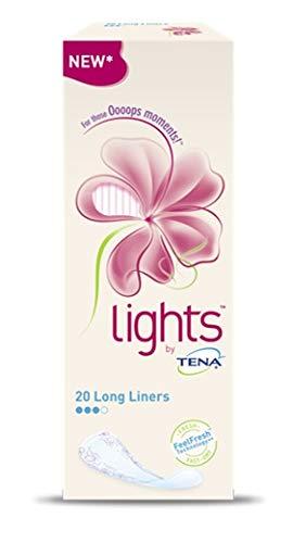 6 x Tena Slip Lights Protection Liner long 20 pièces
