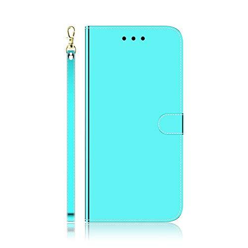 QiuKui Case Cubierta de la Superficie del Espejo para Xiaomi MI 10 Pro Nota 10 CC9 Pro CC9E A3 K30 K20 Funda de Cuero Redmi-Note 9 Pro MAX 9S 8T Teléfono Coque