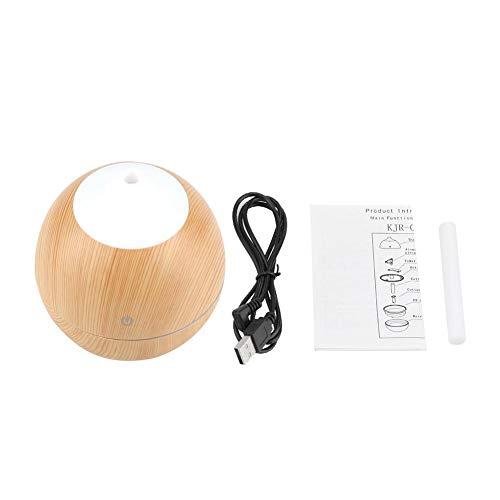 FTVOGUE 130ml Multifunctionele Luchtbevochtiger Hout Graan Aromatherapie Luchtbevochtiger Aroma Diffuser met Nachtlampje