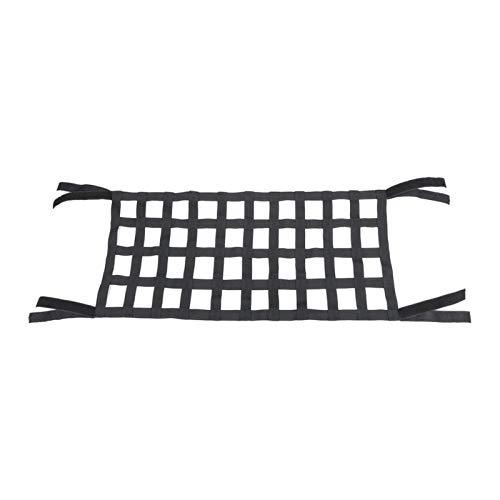 MOVKZACV Red de carga de malla, cómoda hamaca elástica para techo con respaldo superior, impermeable, para Wrangler JK 07-18, resistente Oxford