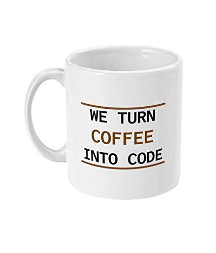 N\A Convertimos el café en código Taza codificador Regalo codificación Nerd Regalo para Geeks Programador Friki café Divertido Programador Taza de programación