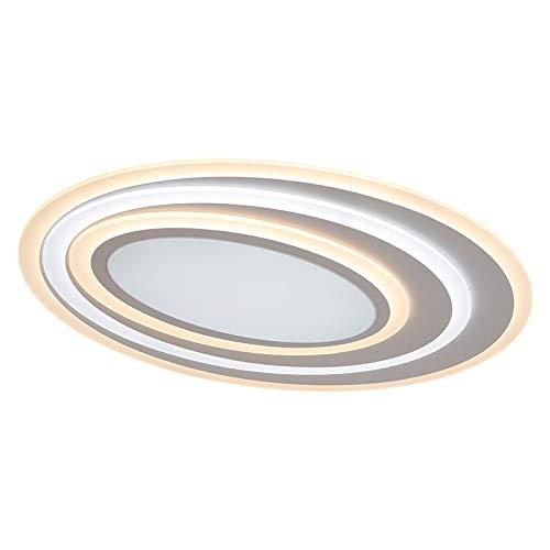 LED Deckenleuchte Deckenlampe XW91 60x50 cm 75W mit Fernbedienung Lichtfarbe/Helligkeit einstellbar dimmbar, LED Deckenleuchte Beleuchtung Lampen