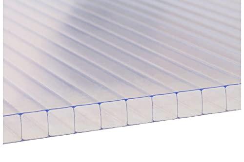 LEXAN® - Placas de Policarbonato Alveolar Celular, Grosor 8mm, Transparente, con Protección UV a 2 caras, para Exteriores. Medidas: (100 x 190 cm - Pack de 2)