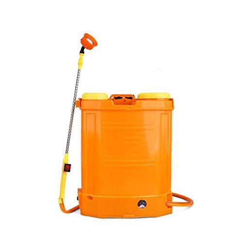 Grote elektrische gieter hoge tegendruk spuit, huishoudelijke verdikte vat gieter, langdurige landbouwverstuiver spuitbus, gedetailleerde spuitbus (Color : Orange, Size : 20L)