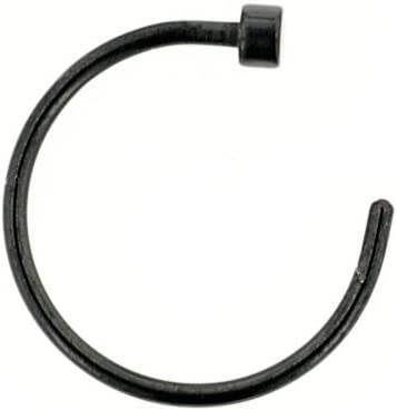 20g Black Anodized Over Surgical Steel New item Seasonal Wrap Introduction Ring 8 3 Hoop Nose Length