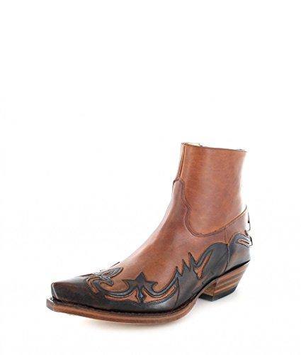 Sendra Boots 5790 Jacinto Tang/Damen und Herren Westernstiefelette Braun/Cowboystiefelette, Groesse:37