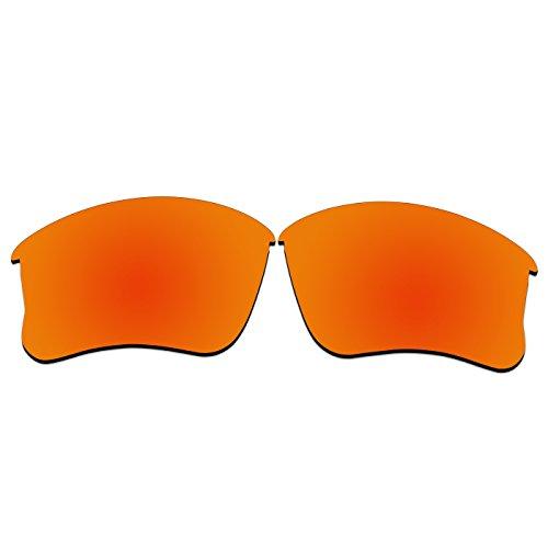 acompatible Ersatz-Objektive für Oakley Flak Jacket XLJ Sonnenbrille, Fire Red Mirror - Polarized