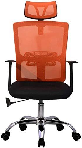 LIUBINGER Drehbarer Bürostuhl Ergonomischer Bürostuhl High-Rücken mit Mesh-Sitz-Verstellbarer Lordosenstütze und Kopfstütze-Computer-Schreibtisch-Arbeitsstuhl