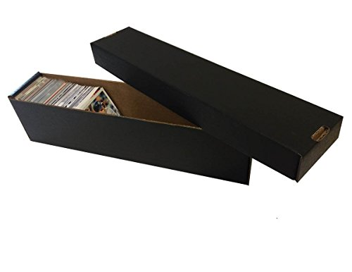 (5) BLACK 800 Count 2 Piece Box - Premium Vertical Storage Box - Baseball, Football, Basketball, Hockey, Nascar, Sportscards, Gaming & Trading Cards - By Max Pro Collecting Supplies image