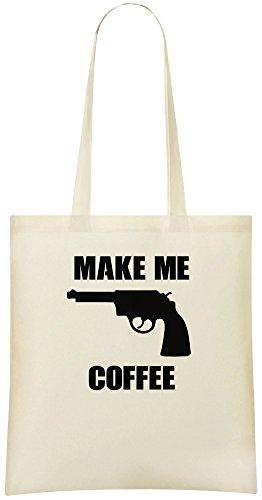 Mach mir Kaffee - Make Me Coffee Custom Printed Shopping Grocery Tote Bag 100% Soft Cotton Eco-Friendly & Stylish Handbag For Everyday Use Custom Shoulder Bags