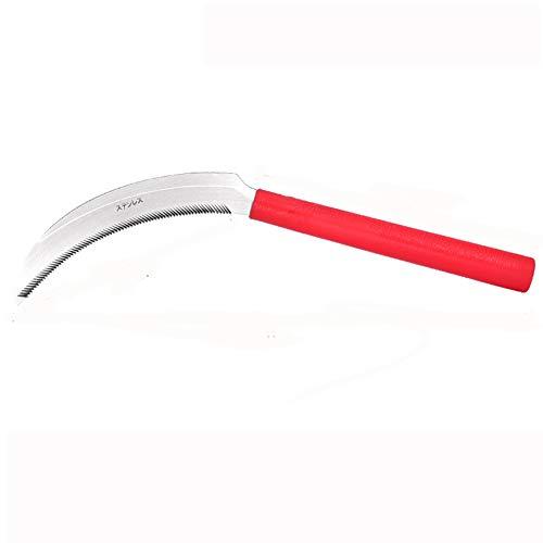 Stahl Gras Sichel Clearing Sichel Hand Held Sichel Werkzeuggarten Jäten Ras Sichel für Hausgarten,Large