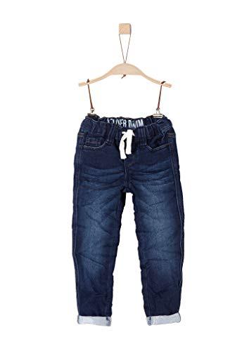 s.Oliver RED LABEL Jungen Slim Fit: Slim leg-Denim dark blue denim stretch 116.SLIM