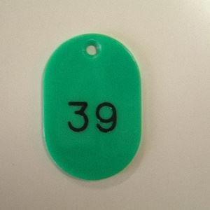 クラウン 番号札 小 番号入 2桁 緑 CR-BG31-G(1-100)