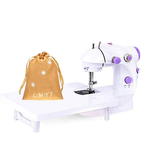 LMYJ Mini Sewing Machine with Extension Table Upgraded Portable Two Threads...